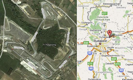 Situacion del circuito de Hungaroring